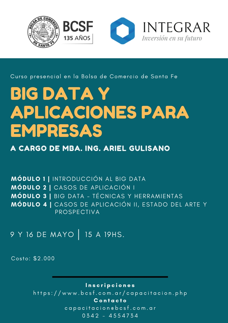 Flyer Big Data y aplicaciones